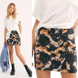 NWT Free People Modern Femme Novelty Skirt